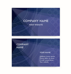 business card dark blue vector image