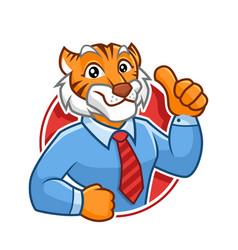Businessman tiger mascot character design vector