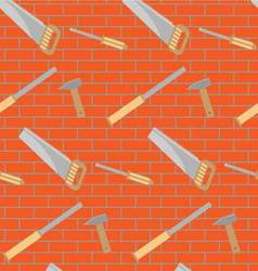 Carpentry tools pattern design vector image