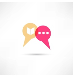 Chat concept icon vector image
