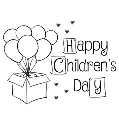 Children day with balloon children day background vector