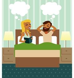 Couple in bedroom vector