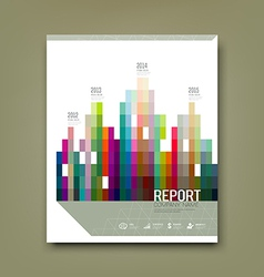 Cover Report colorful geometric building patten vector