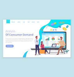 Customer demand website template analysts work vector