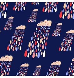cute seamless pattern with colorful rainy vector image