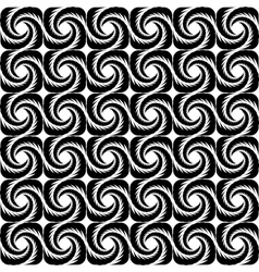 Design seamless monochrome spiral pattern vector image vector image