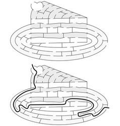easy cake maze vector image