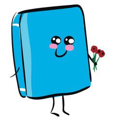 Blue Flower Emoji Vector Images 43