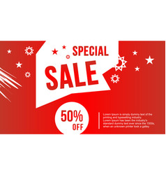 Flash sale design for business discount banner vector