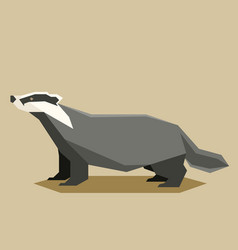 flat geometric badger vector image