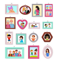 Frame framing picture or family photo for vector