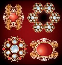 Frame jewels vector