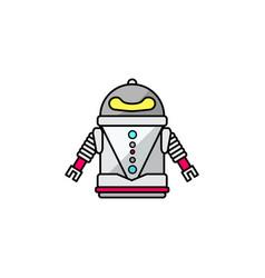 friendly cartoon robot vector image