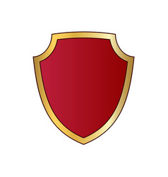 Gold and red shield shape icon logo emblem vector