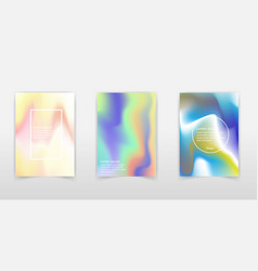 gradient mesh abstract backgrounds set stylish vector image