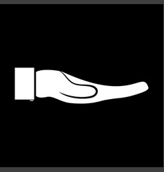hand it is icon vector image