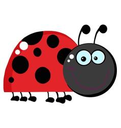 Happy Ladybug Grinning vector image