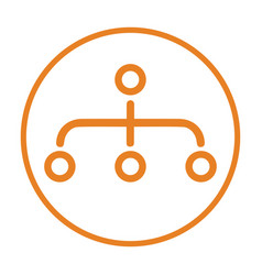 Hierarchy site map icon orange vector
