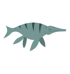 Ichthyosaur dinosaur icon isolated vector