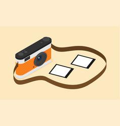 isometric camera flat icon vector image