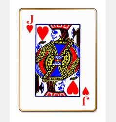 Jack hearts playing card vector