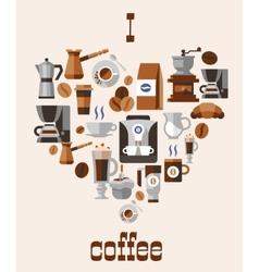Love coffee concept vector image
