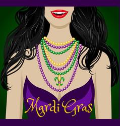 mardi gras greetings vector image