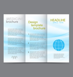 medicine template design brochure vector image