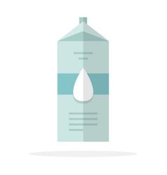 milk in paper packaging flat material design vector image