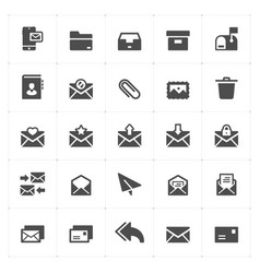 N set - mail and letter solid icon style vector