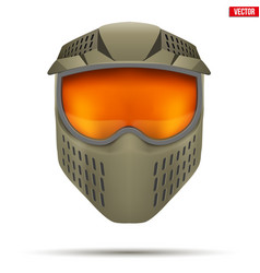 paintball mask with goggles vector image