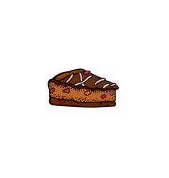 pop art style dessert sticker vector image