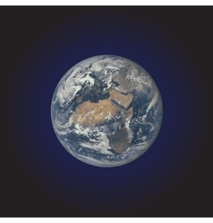 Realistic planet Earth vector