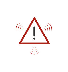 Red flashing hazard warning attention sign vector