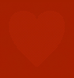 red heart shaped love concept background design vector image