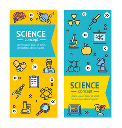 science research vertical banners posters vector image