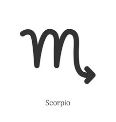 Scorpio zodiac sign isolated on white background vector