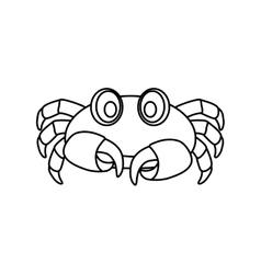 Sea crab animal vector