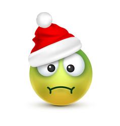 smileyemoticon green emoji face with emotions vector image