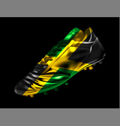 soccer football boot with the flag of jamaica vector image