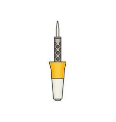 soldering flat vector image