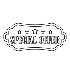 Special offer label icon outline style vector
