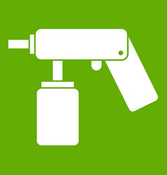 spray aerosol can bottle with a nozzle icon green vector image