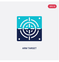 Two color arm target icon from general concept vector