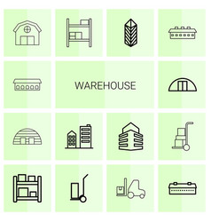 Warehouse icons vector