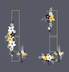 Wedding ceremony decorations arch with flowers vector