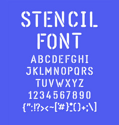 white stencilled font the letters are all vector image