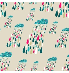 cute seamless pattern with colorful rainy vector image vector image