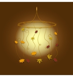 Decorative pendant with autumn leaves vector image