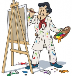french painter vector image